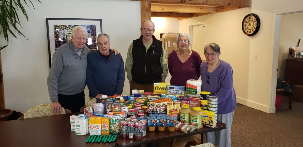 The Caring For Our Community  program with a food drive for the Upper Valley Haven